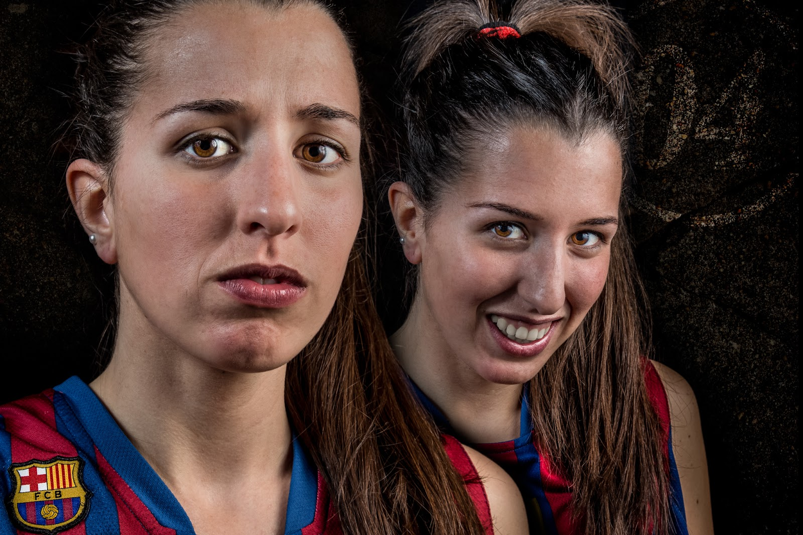 Berta 04 - CBS Barça Senior Femenino A - 2013 :: 2 x Canon EOS 5D MkIII | ISO100 | Canon 24-105 @47&58mm | f/11 | 1/60s