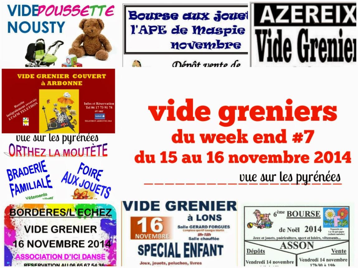 vide grenier du week end #7   du 15 au 16 novembre 2014