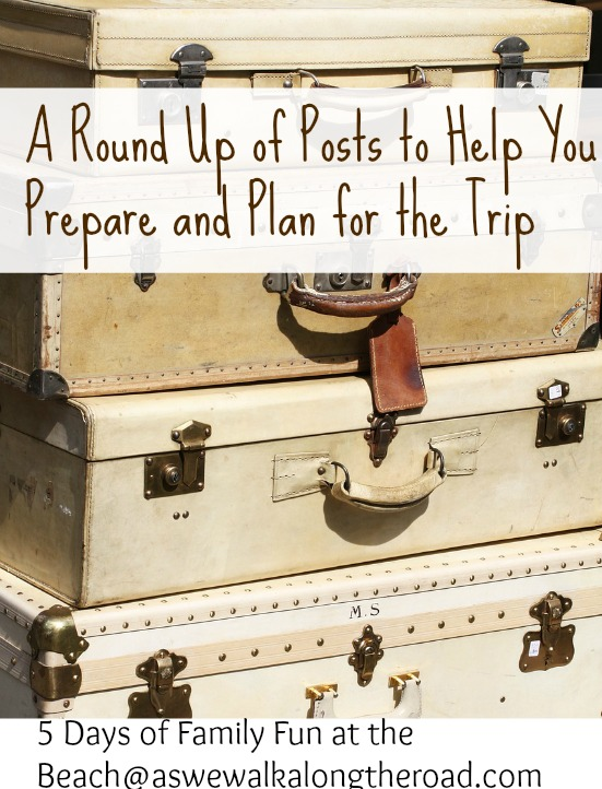 A round up of ideas for preparing and planning for a family vacation