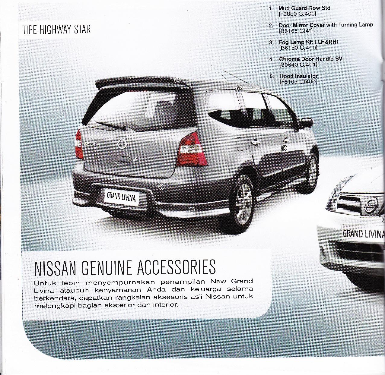 Andy Nissan Malang 081217493783 Brosur Grand Livina Fog Lamp 2012 Complete Wijaya 03419316510