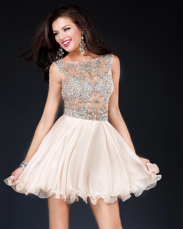 Increíbles vestidos de fiesta cortos   Moda 2014