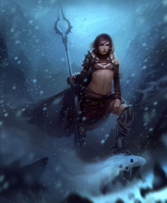 Miles Johnston deviantart illustrations fantasy women
