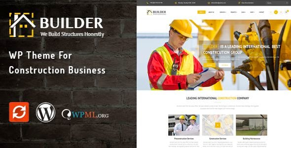 Builder - WP Theme for Builders & Architectures