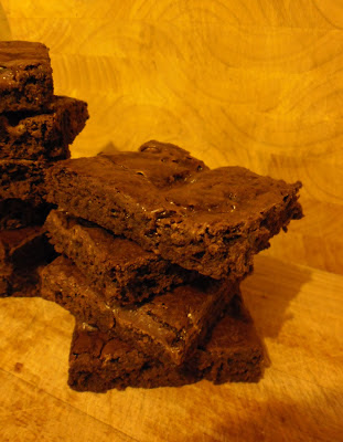 Full recipe and instructions to make some delightful Chocolate Brownies infused with delicious Salted Caramel