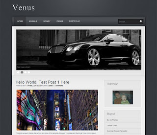 Venus Blogger Template