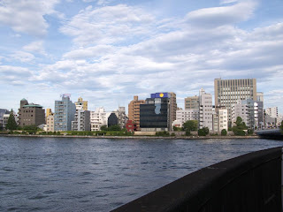 Confluence of the Sumida and Nihonbashi rivers, Tokyo.