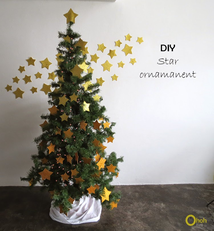 DIY stars Christmas tree