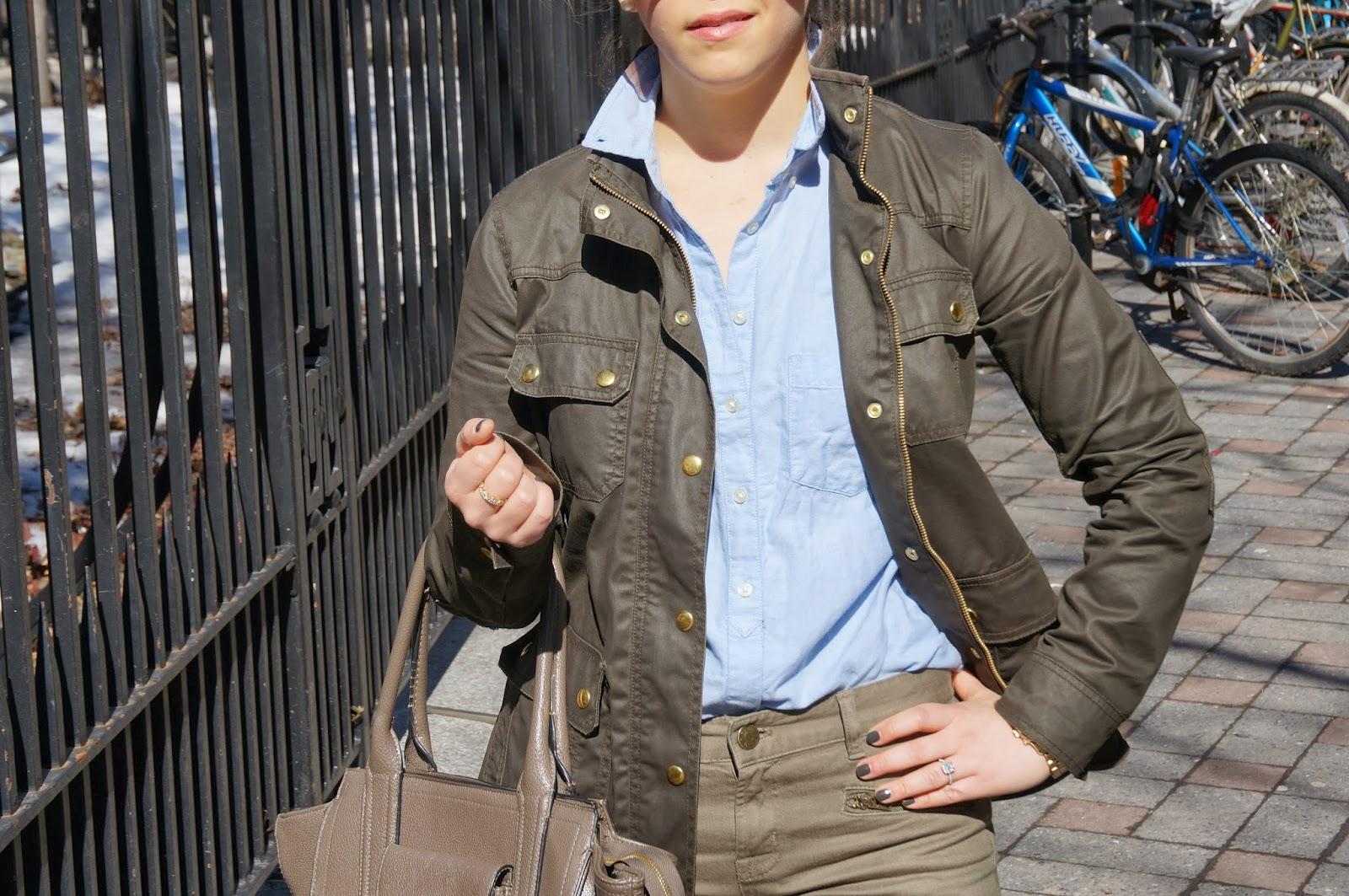Olive Field Jacket, Olive Zipper Pants