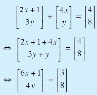 nilai x dan y matriks