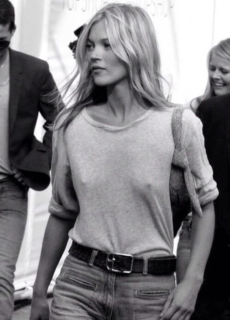 Kate Moss at the Topshop show 2006