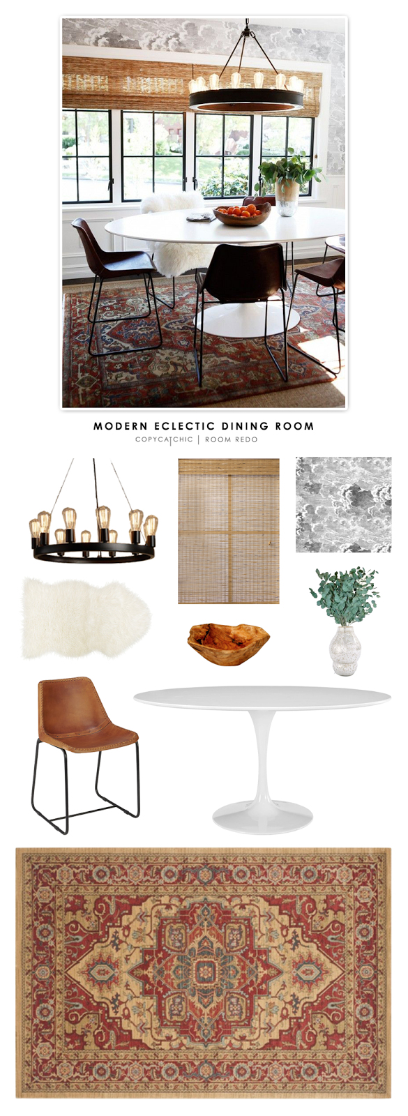 copy cat chic room redo modern eclectic dining room