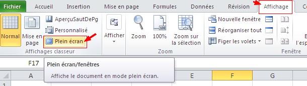 le bouton « Plein écran »