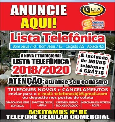 NOVA LISTA TELEFÔNICA - ATUALIZE SEU CADASTRO
