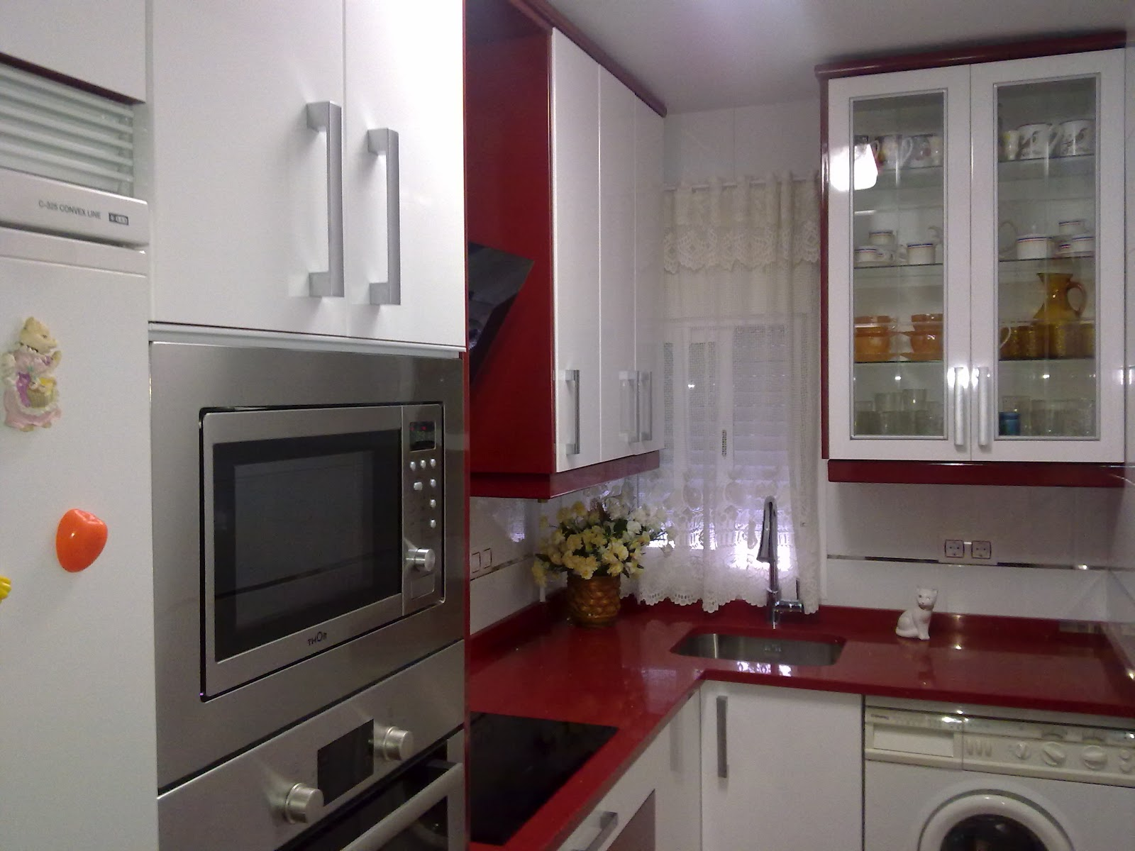Modelo formica alto brillo blanco granate encimera - Muebles de cocina sueltos ...