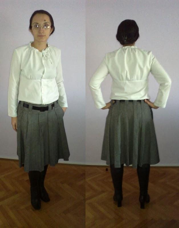 Stepalica Patterns: Zlata suknja - testiranje kroja, Julijana