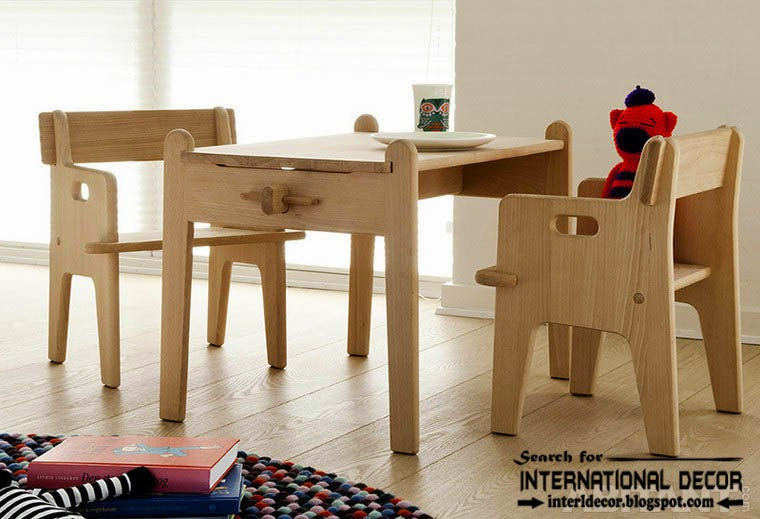 create creative study space for kids room, study space table and chairs