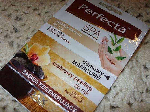 Recenzja: Szafirowy peeling + regenerująca maska - serum do rąk, Perfecta Spa
