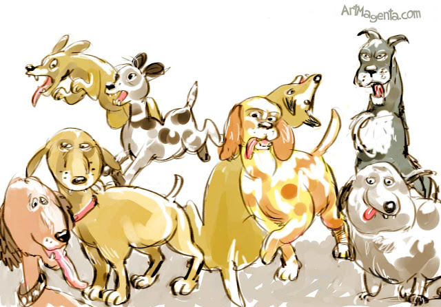 Dogs by ArtMagenta
