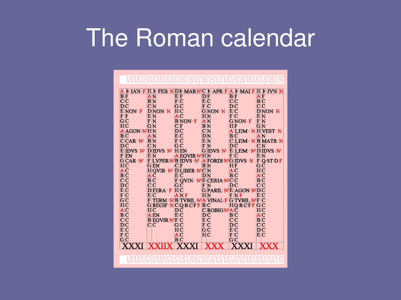Ancient Roman Calendar | My Calendar Template Collection