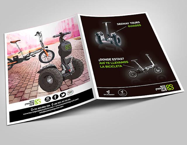 Diseño de catálogos en Barcelona segway y bicicletas eléctricas