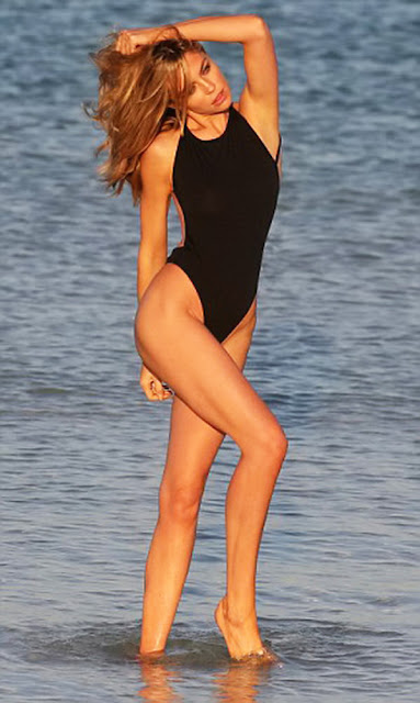 Abbey Clancy – Swimwear Photoshoot in Dubai