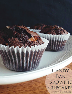 Candy Bar Brownie Cupcakes