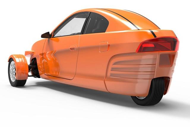 Empresa americana propõe veículo de três rodas