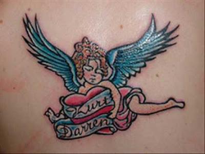 Imagens e fotos de Tatuagens Femininas de Anjo