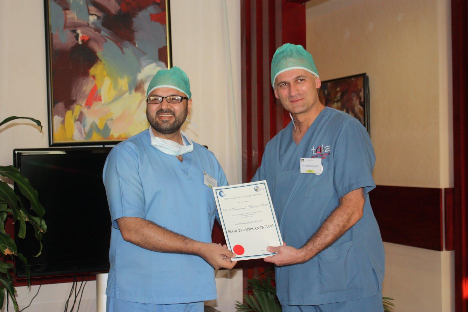 Dr M Khawar Nazir with Dr Akaki Tsilosani