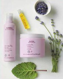 Organic plants bring Stress Relief through Aveda's Skin Care Line