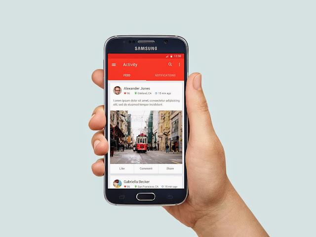 Samsung Galaxy S6 in Hand MockUp PSD