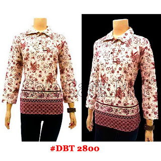 DBT2800 - Baju Bluse Batik Wanita Terbaru 2013