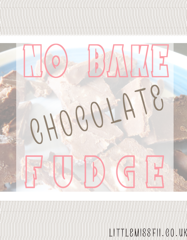 NO BAKE CHOCOLATE FUDGE super easy | little miss fii
