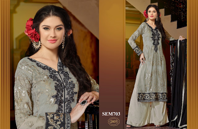 Unique Party Wear Georgette Salwar Straight Suit