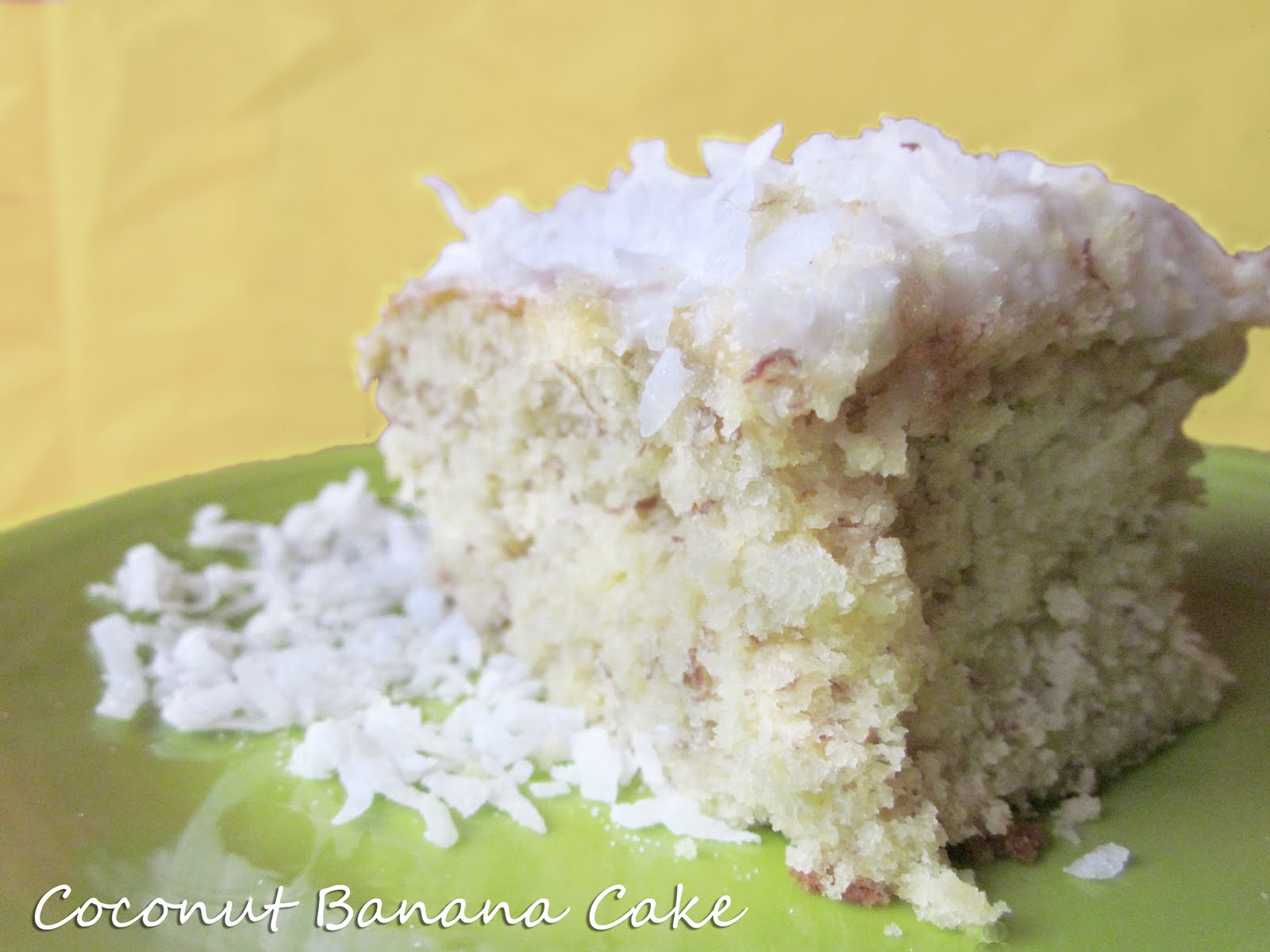 Diddles and Dumplings: Coconut Banana Cake