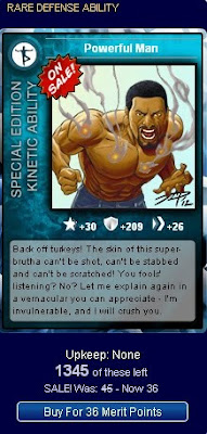 Powerful Man at Superhero City card