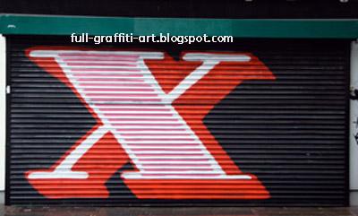 Graffiti Alphabet Letter X