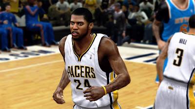 NBA 2K13 Paul George Realistic Best Cyber Face Mods