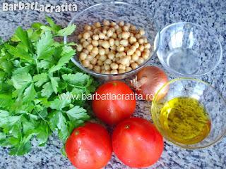 Salata de naut cu patrunjel ingrediente reteta