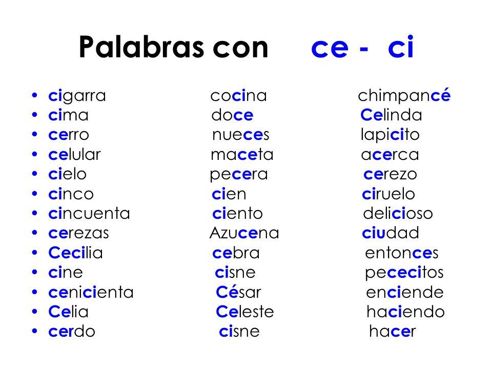 Palabras con c que suenen como z palabras con c que for Oraciones con la palabra beta