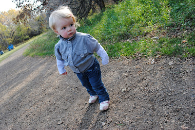 Toddler going for a walk