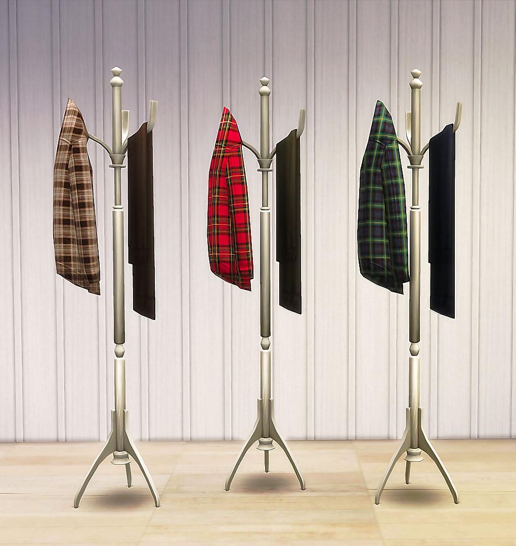 Sims4 coat rack recolors ruby 39 s home design for Porte a porte clothing