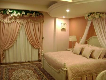 desain warna kamar tidur pengantin