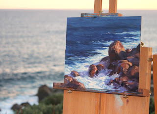 Lowlands, Denmark, WA. Plein air oil painting seascape by Andy Dolphin.