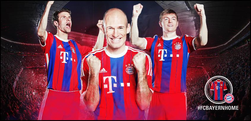 Jual Jersey Bola Bayern Munchen Home 2014-2015