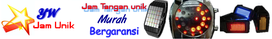 Jual | Jam tangan unik YW UNIK | Tokyo Flash | LED Watch | ODM | Black Dice
