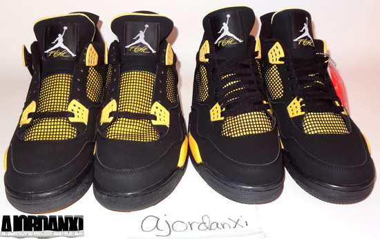 Air Jordan 4 Tonnerre 2006 Vs 2012
