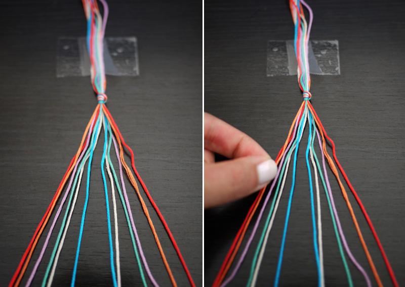 Как сделать браслет своими руками из ниток фото