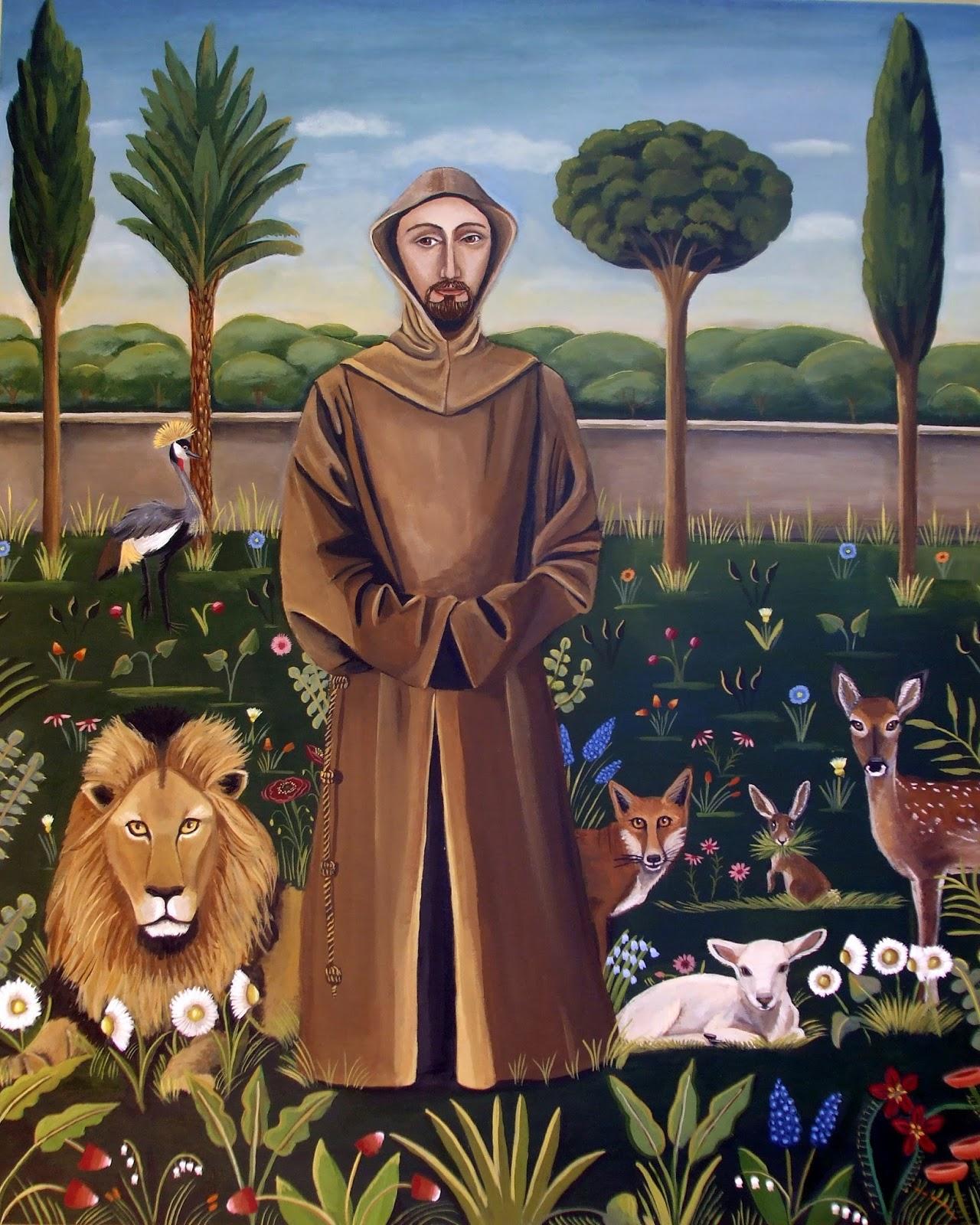 Catherine Nolin Dequattro Art Studio St Francis Of Assisi New Painting