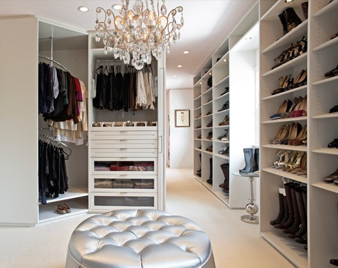 There is nothing better than all these amazing shoes to be displayed appropriately in a glam boutique style closet setting